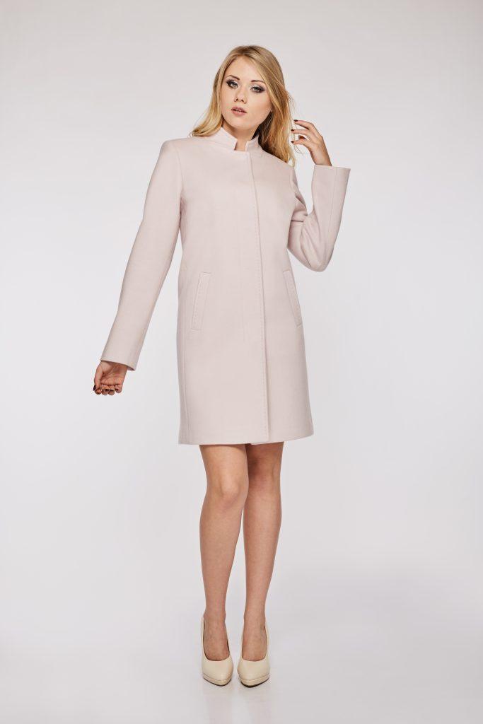 beżowy płaszcz damski nieocieplony model Nicol