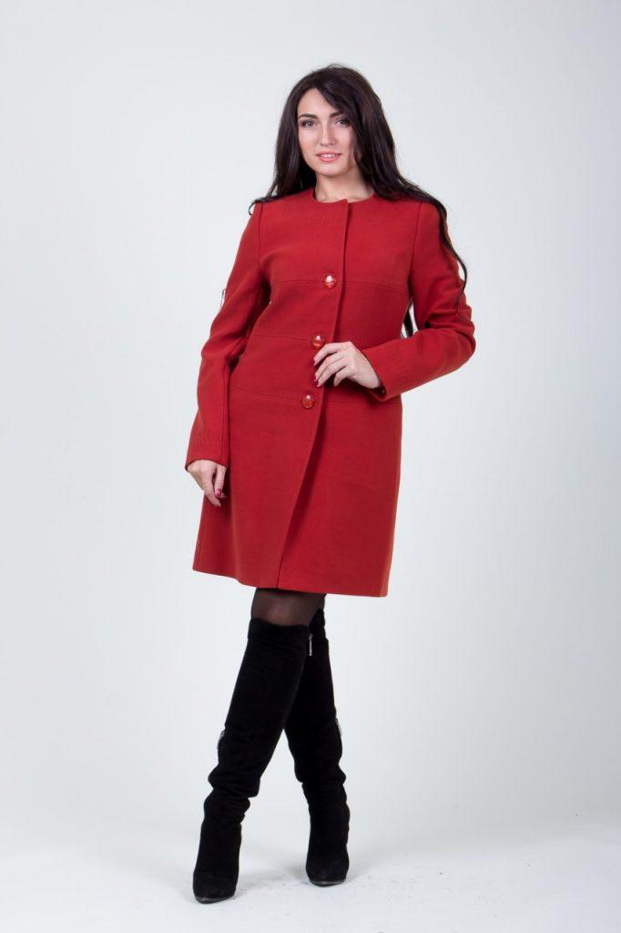 płaszcz damski bez kołnierza 2-394