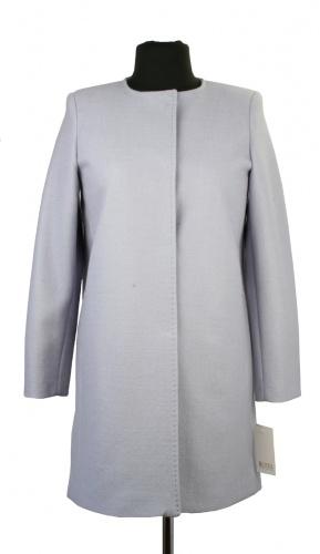 Płaszcz wiosenny bez kołnierza Miriam z wełny