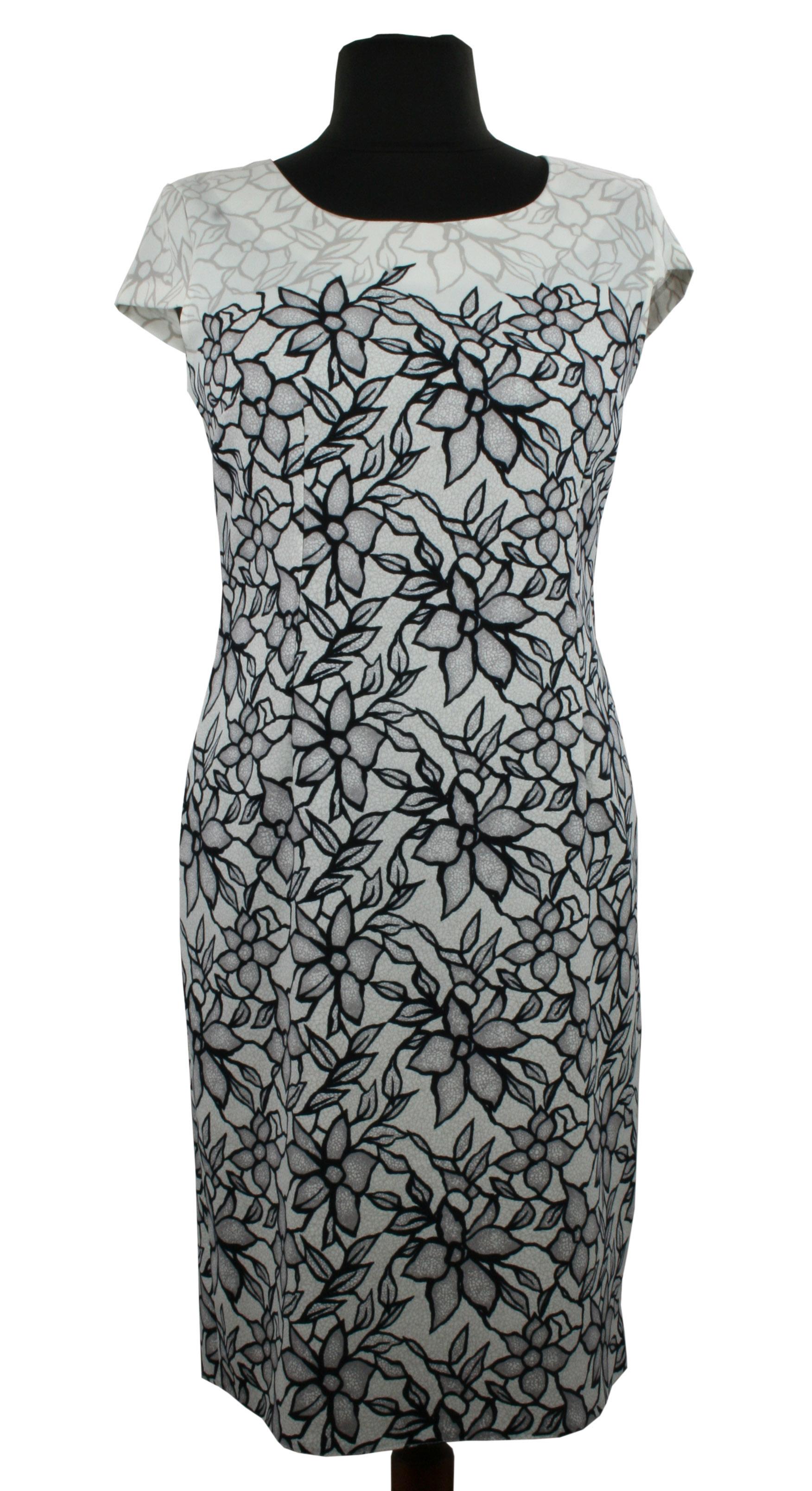 Sukienka Pamea w kwiecisty wzór z krótkim rękawem PSUK 6858